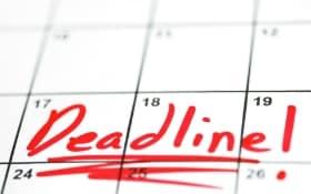 deadline to save money