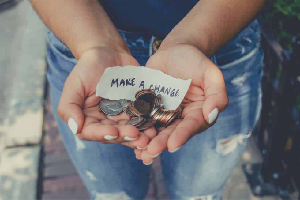 giving back will make you feel rich